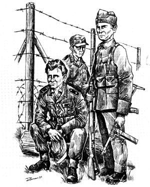 An der Grenze 1945