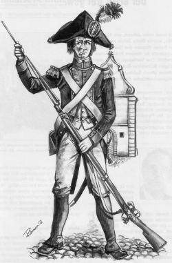 Infanterist der Stadt St. Gallen 1792