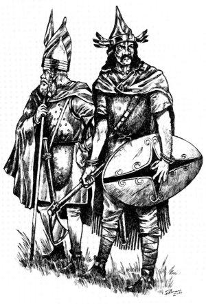 Keltischer Krieger vom Neuenburger See (ca. 420 v. Chr.)